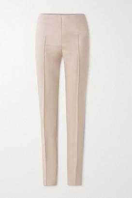 Akris Melissa Cotton-blend Slim-leg Pants - Beige