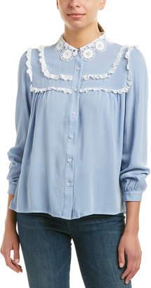 Allison New York Lace-Trim Blouse