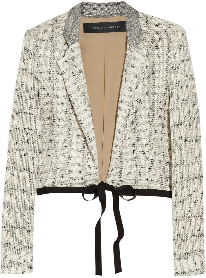 Roland Mouret Harleth bouclé cotton-blend jacket