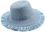 Eric Javits Tiki Fringed Woven Bucket Hat