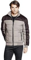 GUESS Men's Walford Mixed-Media Puffer Jacket