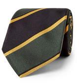 Drakes Drake's - Easyday 7cm Striped Silk-Twill Tie