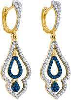 DazzlingRock Collection 1/2 Total Carat Weight DIAMOND MICRO-PAVE EARRING