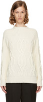 Lanvin Ivory Wool Argyle Sweater