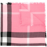 Burberry check scarf - kids - Merino - One Size
