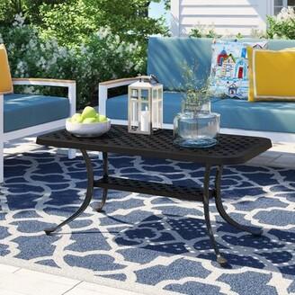 Carmen Aluminum Coffee Table Sol 72 Outdoor