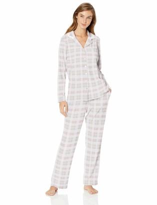 Aria Women's Long Sleeve Notch Collar Pajama Set