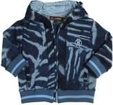 Roberto Cavalli Tiger Printed Cotton Fleece Sweatshirt