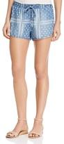Bella Dahl Printed Chambray Shorts
