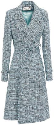 Goat Rae Belted Frayed Tweed Coat
