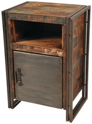 Moti Reclaimed Wood And Metal 1 Door Cainet