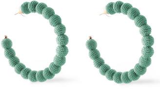 Kenneth Jay Lane Gold-plated Cord Hoop Earrings