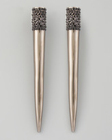 Eddie Borgo Pave Crystal Spike Earrings, Gunmetal
