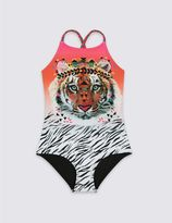 Marks and Spencer Animal Print Swimsuit with Lycra® Xtra LifeTM (3-14 Years)