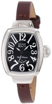 Glam Rock Women's MBD27062 Miami Beach Art Deco Black Dial Brown Leather Watch