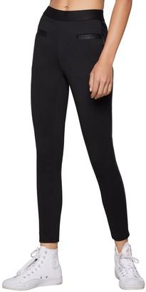 BCBGeneration High-Waist Ponte Faux Leather-Trimmed Pants