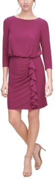 Jessica Howard Cascade Ruffle Blouson Dress