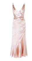 Maria Lucia Hohan Adah Satin Wrap Dress