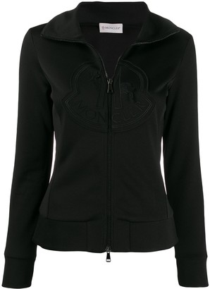 Moncler zip-up logo sweatshirt