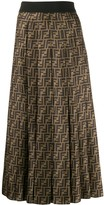Fendi FF motif pleated skirt