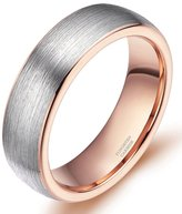 Greenpod 6mm Tungsten Wedding Rings with Box Comfort Fit Domed Brushed Size 4-14