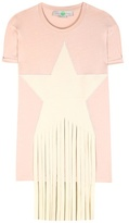 Stella McCartney Fringed Cotton T-shirt