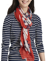 Joules Wensley Posy Print Scarf, Red/Multi