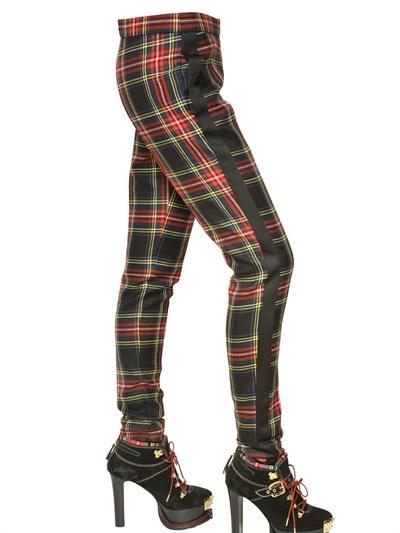 Moschino Light Wool Tartan Trousers