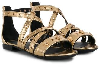 Versace Grommet-Embellished Sandals