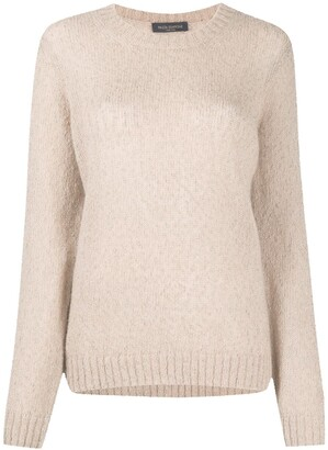 Piazza Sempione Bobble Detail Sheer Style Jumper