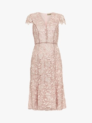 Phase Eight Amaya Lace Dress, Petal Pink