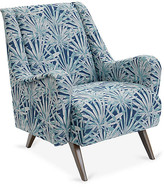 One Kings Lane Margot Accent Chair - Laguna/White