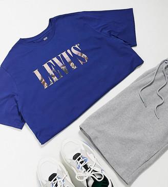 Levi's Big & Tall serif photo print t-shirt in blue