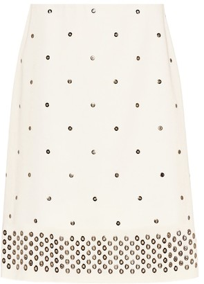 Bottega Veneta Studded cotton skirt
