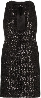 Saint Laurent Plunging Sequinned Dress