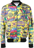 Moschino printed bomber jacket - men - Polyester - M