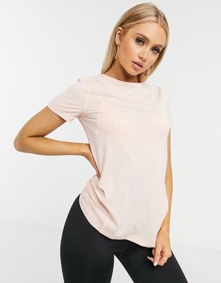 Nike Training Pro t-shirt in pale pink mesh