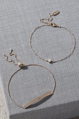 Serefina Initial Bracelet Set By in Gold Size 1