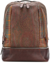 Etro paisley print backpack - men - Calf Leather/Polyamide - One Size