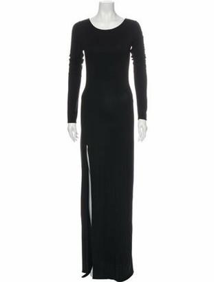 Reformation Scoop Neck Long Dress Black