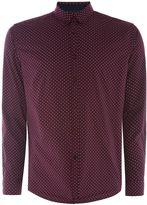 Merc Men's Siegel Printed Polka Dot Shirt