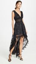 Temptation Positano Prato High Low V Neck Dress