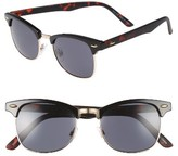 Topman Men's Clubmaster 50Mm Sunglasses - Brown