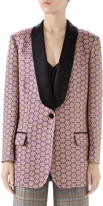 Gucci Ancient Oriental Geometric Jacquard Jacket