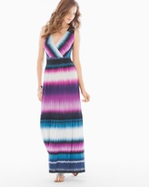 Soma Intimates Crochet-Back Sleeveless Maxi Dress Tide Stripe Rose Violet