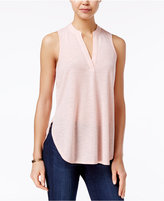 Almost Famous Juniors' Cutout-Back Lace-Trim Top