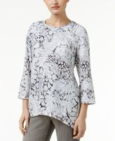 Alfred Dunner Petite Uptown Girl Printed High-Low Top