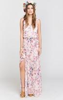 MUMU Kendall Maxi Dress ~ Green Wedding Shoes Floral