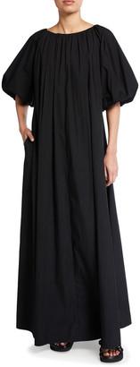 Co Short-Sleeve Bubble Maxi Dress