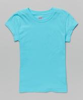 Soffe Light Turquoise Tissue Tee - Girls